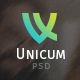 Unicum - One Page Fullscreen PSD Template