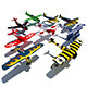 Air Plane Pack 9 Models With LODs