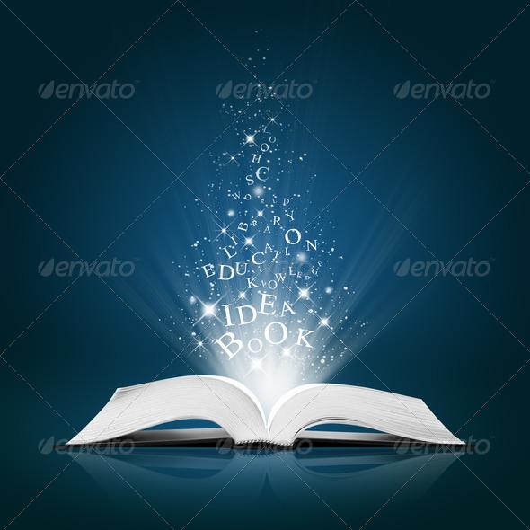 Open book text idea