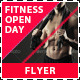 Fitness and Gym Open Day Promotion Flyer