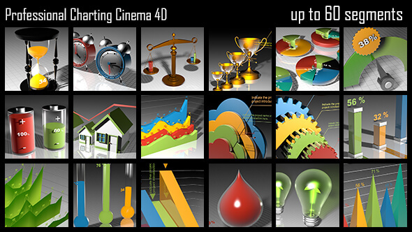 VideoHive Professional Charting Cinema 4D 12208105