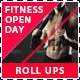 Fitness and Gym Open Day Promotion Roll Up Banners