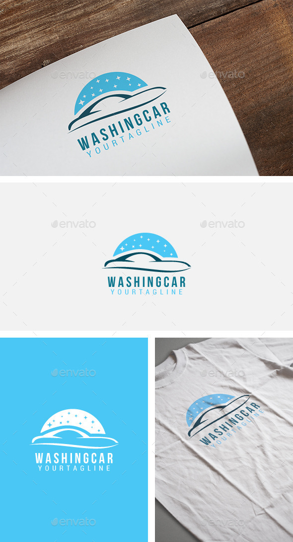 Washing Car Logo
