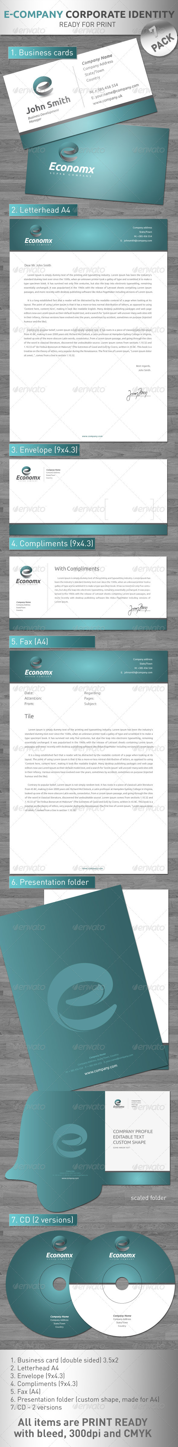 Eco X - Corporate pack !! - Stationery Print Templates