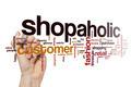 Shopaholic word cloud concept