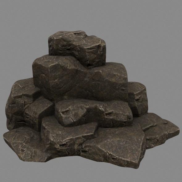 3DOcean Rock 3 12354591