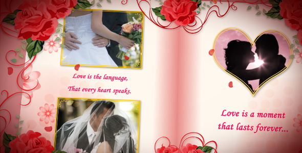After Effects Project - VideoHive Wedding Album Red Roses 150060