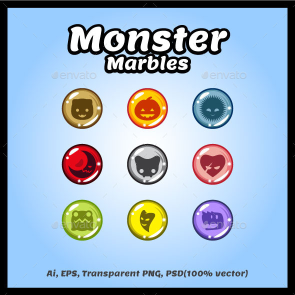Monster Marbles Vector (Miscellaneous)