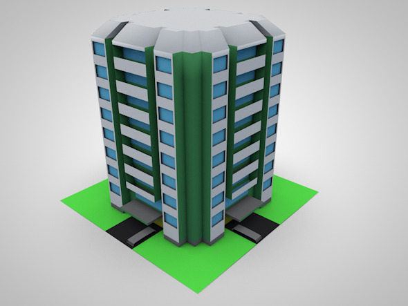3DOcean Low Poly 3D Condominium 12362570