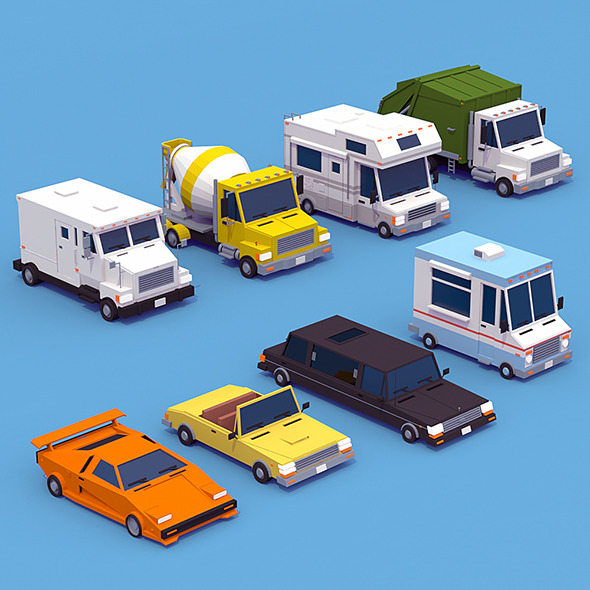 3DOcean Vehicle Collection VOL 2 12363419