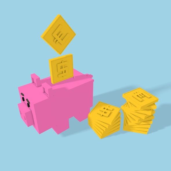 3DOcean Square Big Money-box 12363454