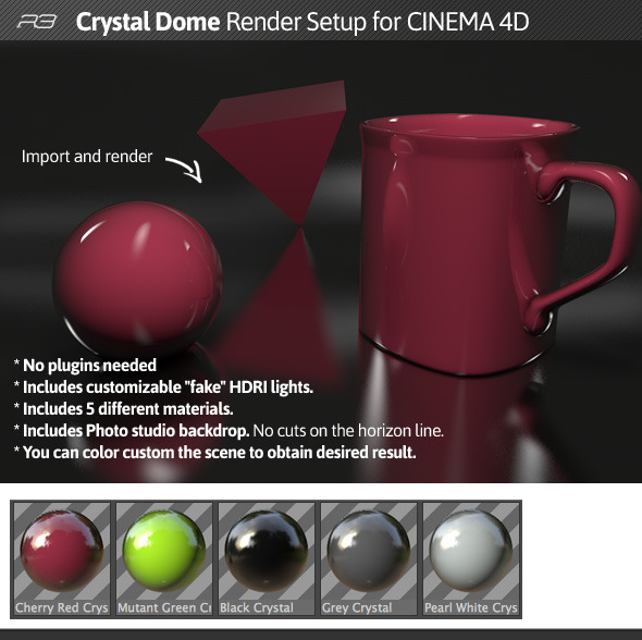 3DOcean Cristal Dome Cinema 4D 12363879