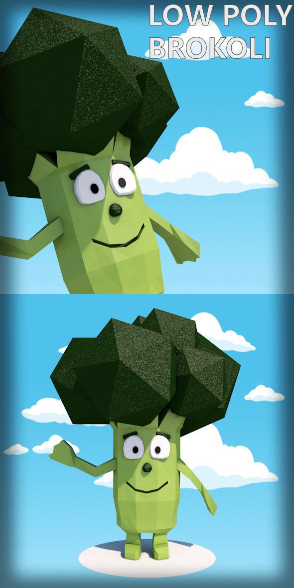 3DOcean Low poly brokoli character 12364042