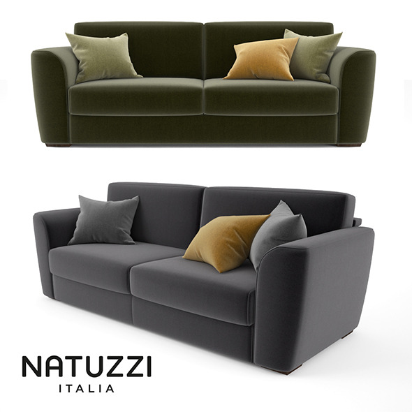 Natuzzi Armando Sofa - 3DOcean Item for Sale