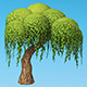 Hand painted Willow tree