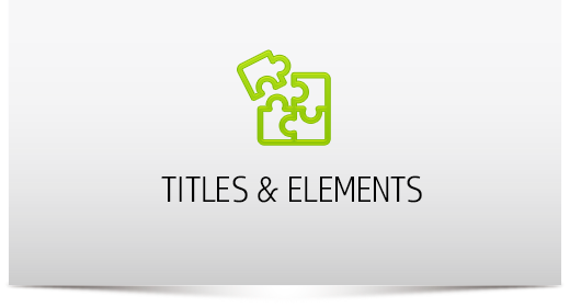 Titles & Elements