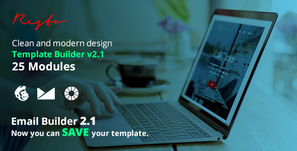 Resto Email Template + Emailbuilder 2.1