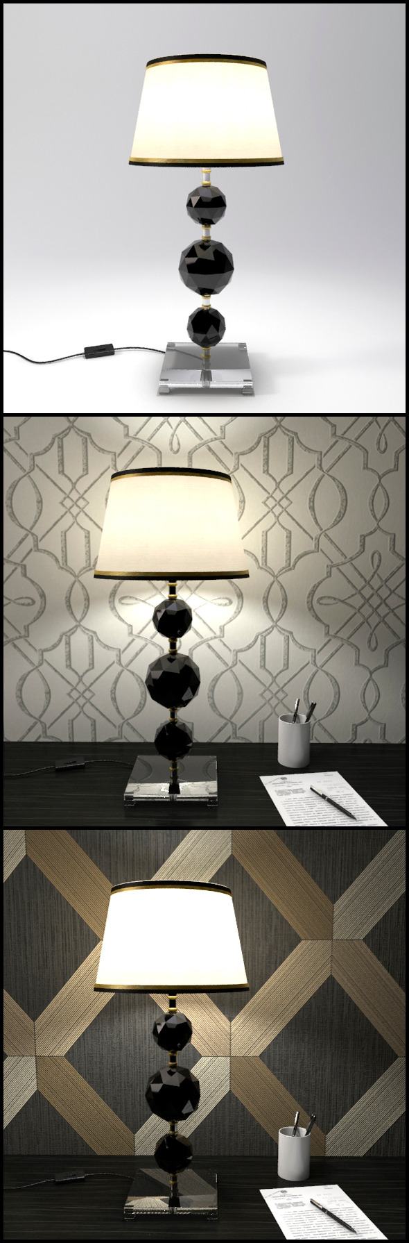 Glass Geosphere Table Lamp #2 - 3DOcean Item for Sale