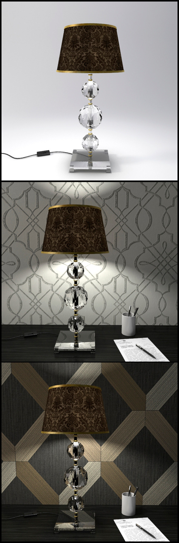 3DOcean Glass Geosphere Table Lamp #4 12368340