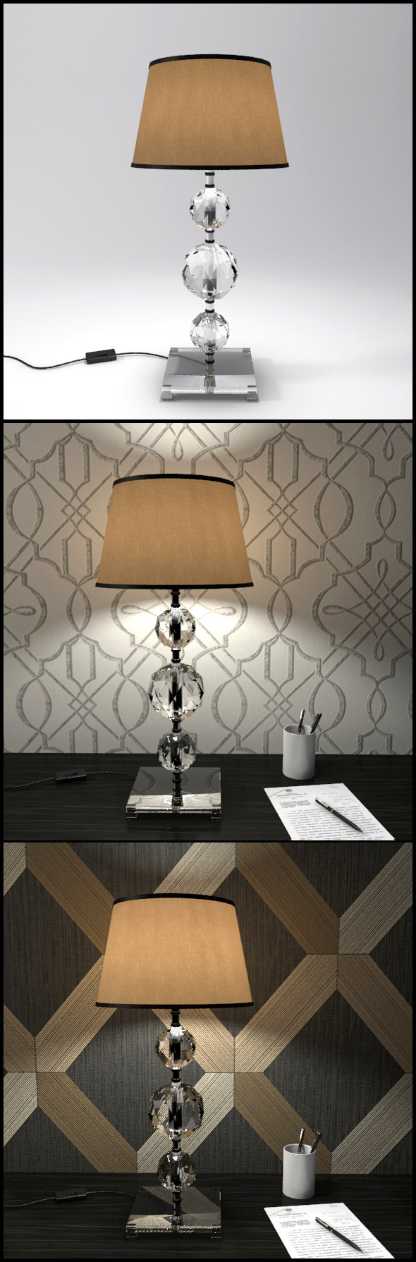3DOcean Glass Geosphere Table Lamp #5 12368347