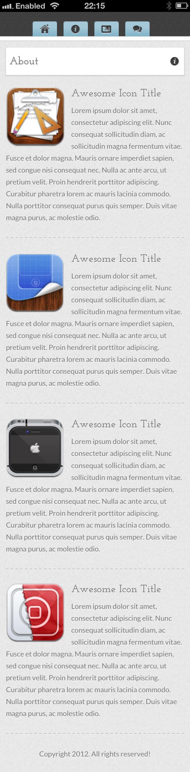 Worktropia | Unique HTML5 CSS3 Folio & iPhone Page