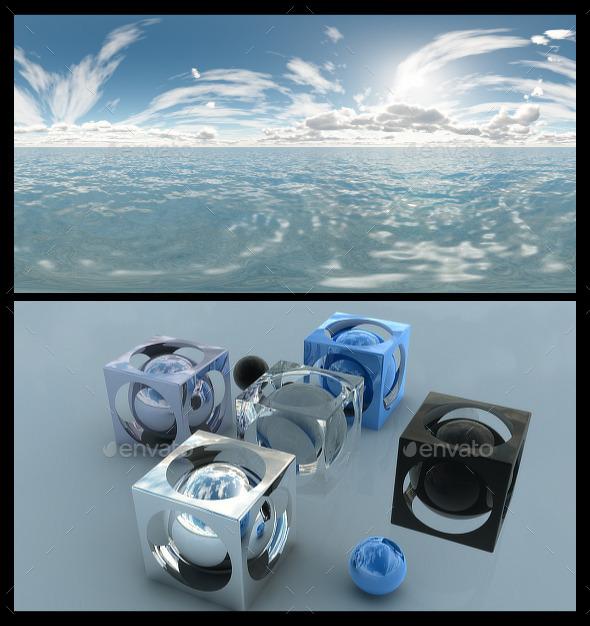 3DOcean Ocean Bright Day 4 HDRI 12369402