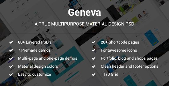 Geneva - A True Multipurpose Material Design