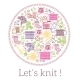 Lets Knit. Knitting And Needlework Sign