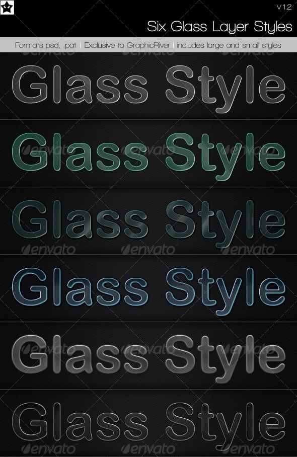 GraphicRiver 6 Glass Layer Styles & Bonus Styles 96326