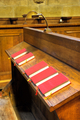 Choir chapel. Detail of hymnal books. - PhotoDune Item for Sale