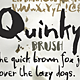 Quinky - Hand Lettering with Brush and Ink - GraphicRiver Item for Sale