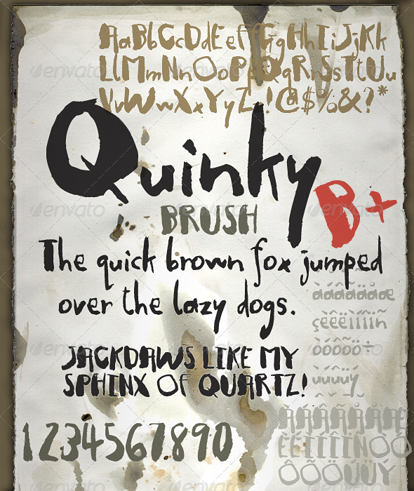 Quinky - Hand Lettering with Brush and Ink - Hand-writing Script