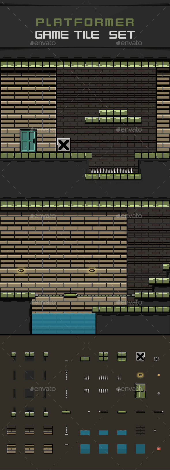 Platformer Game Tile Set (Tilesets)