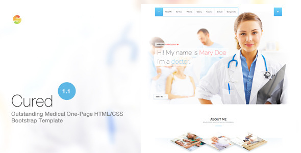 Cured - Medical One Page Bootstrap HTML/CSS Template