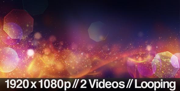 Background of Partical Aurora Series of 2 & Loop
