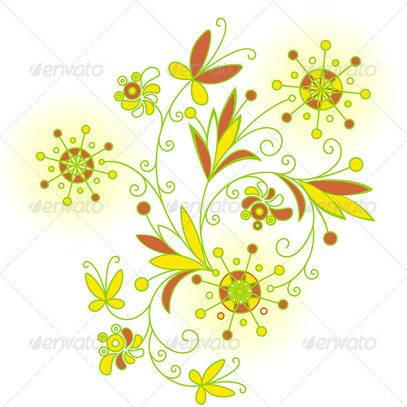 Abstract Flowers background for design
