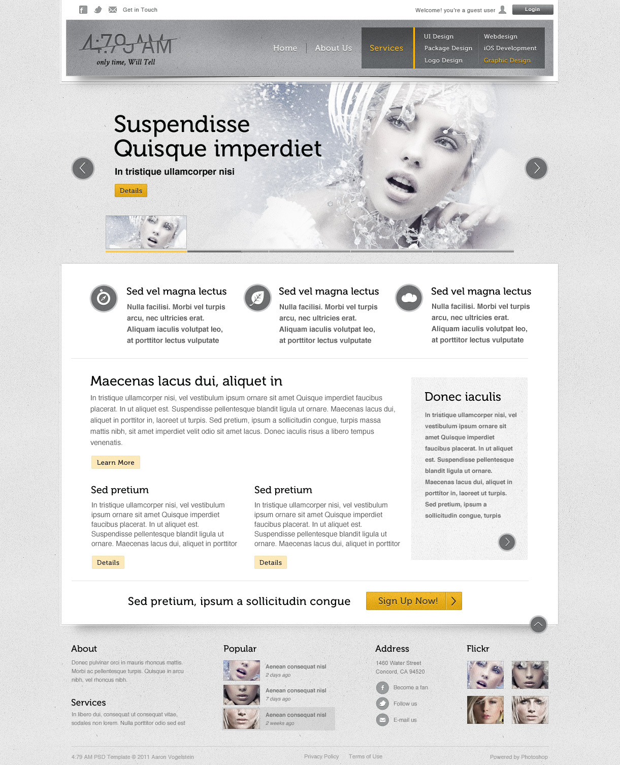 4:79 AM PSD Template