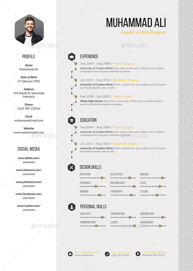 pattern resume by kholispress