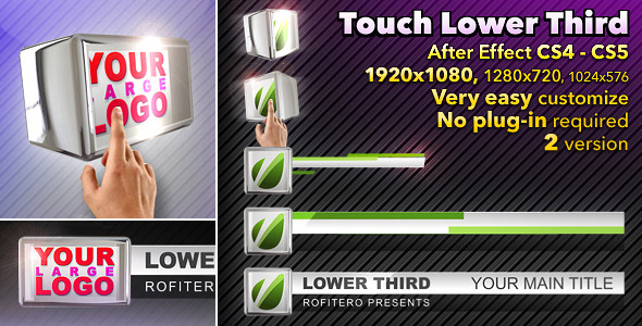 After Effects Project - VideoHive Touch Lower Third 1239276
