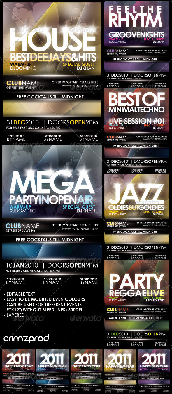 GraphicRiver Club Party Poster 2011 148103