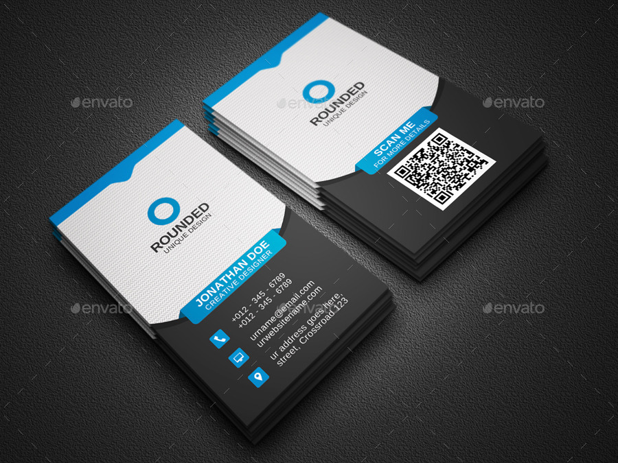Corporate Vertical Business Card by Zavad