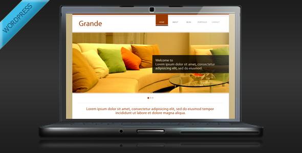 Grande - Clean and Professional WordPress Theme