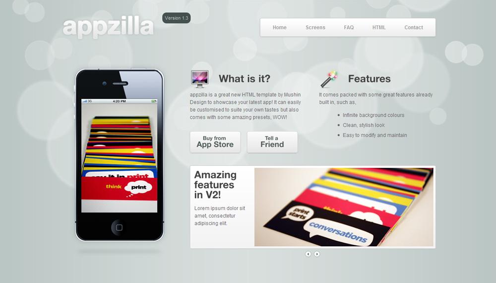 Appzilla - App/Portfolio theme (4 skins) - Home