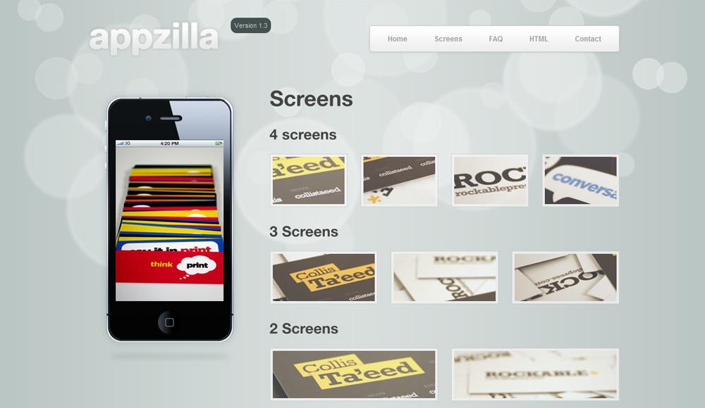 Appzilla - App/Portfolio theme (4 skins) - Screens