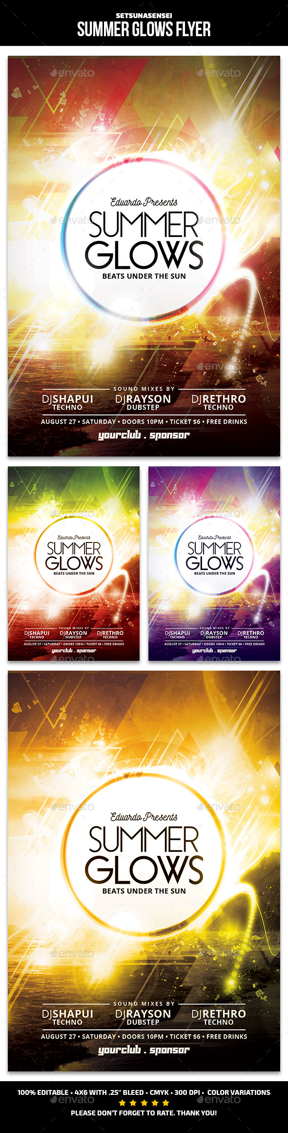 Summer Glows Flyer