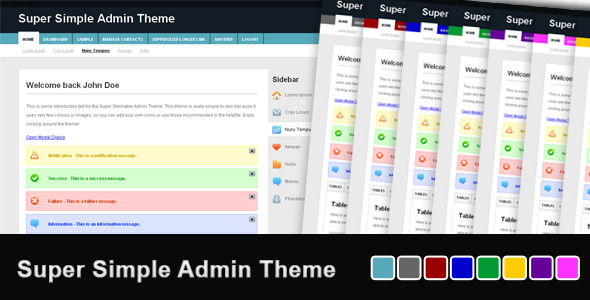 Super Simple Admin Theme - Admin Templates Site Templates