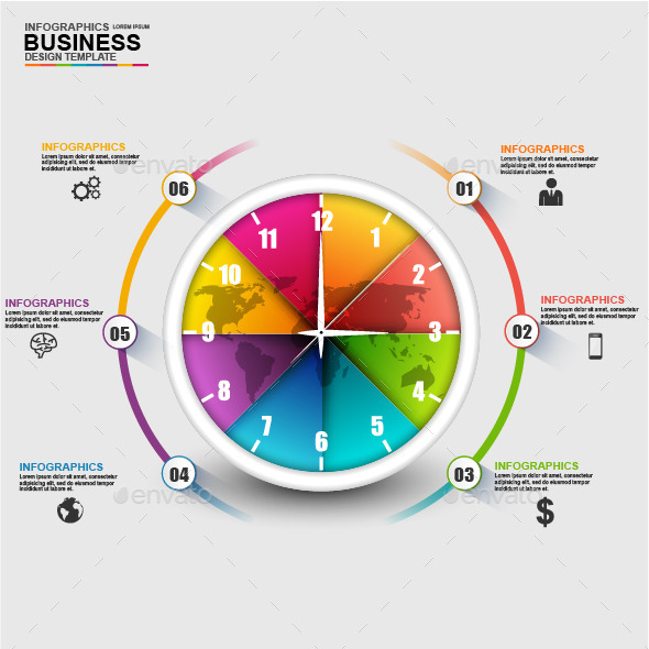 Abstract 3D Business Timeline Infographic