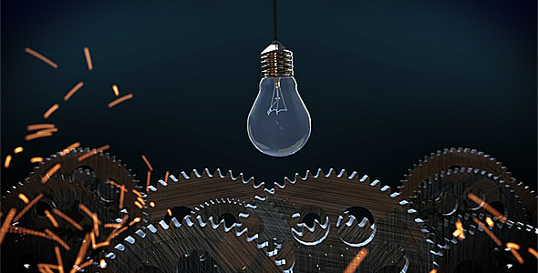 After Effects Project - VideoHive Gears and lights logo reveal 150452
