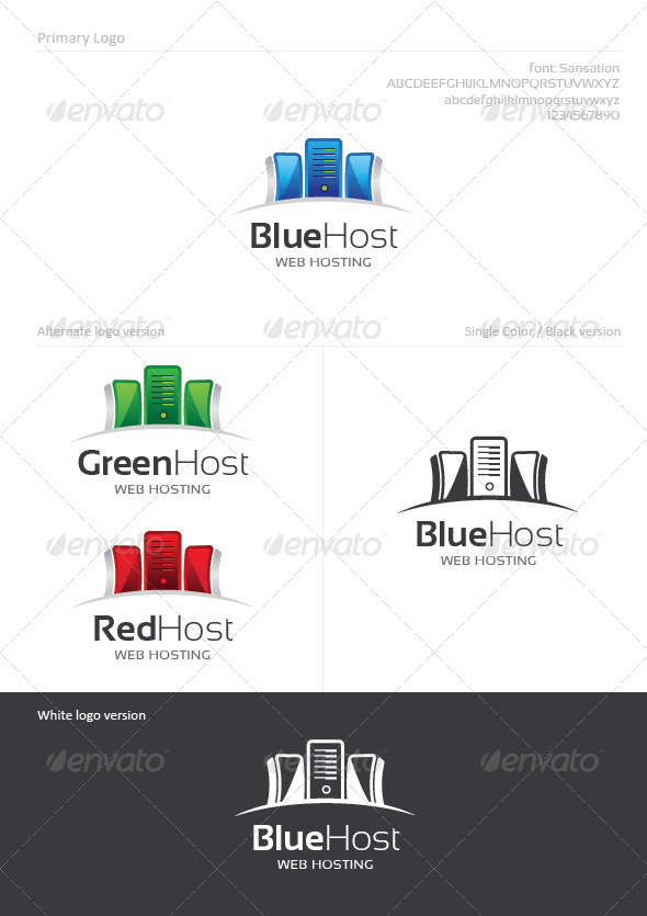 Web Hosting - Abstract Logo Templates