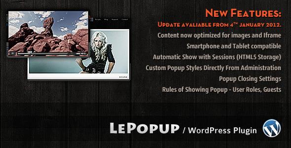 CodeCanyon LePopup WordPress 1129913